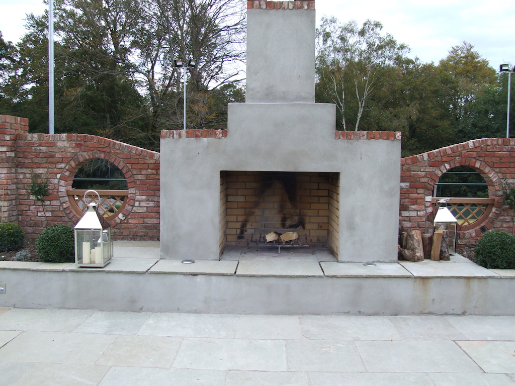 Stunning Outdoor Fireplaces Serenity Landscaping Kent